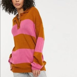 ASOS DESIGN - Tall Oversized Rugby Style Sweater